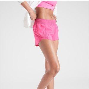 Athleta azalea pink short 3 inch shortie pocket